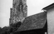 Ashwell, St Mary's Church And Lychgate c.1955