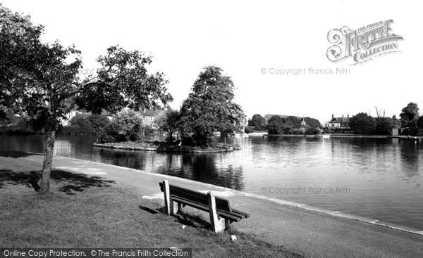 Photo of Askern, The Lake c.1955