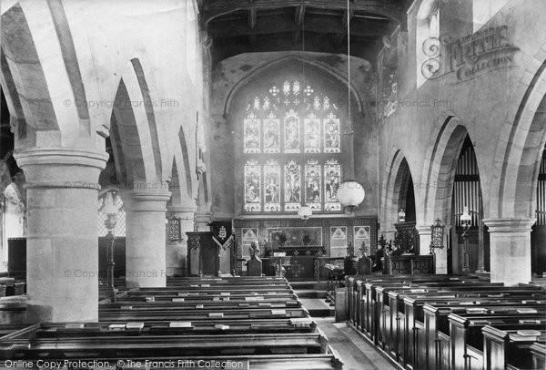 Photo of Askrigg, Church Interior 1906