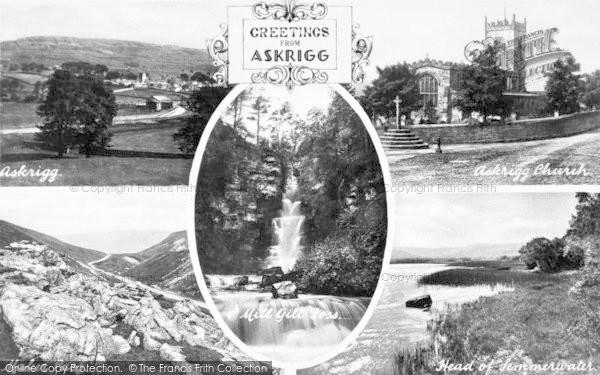 Photo of Askrigg, Composite c.1950