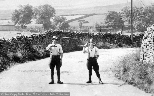 Photo of Askrigg, Men With Scythes 1914