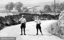 Askrigg, Men With Scythes 1914