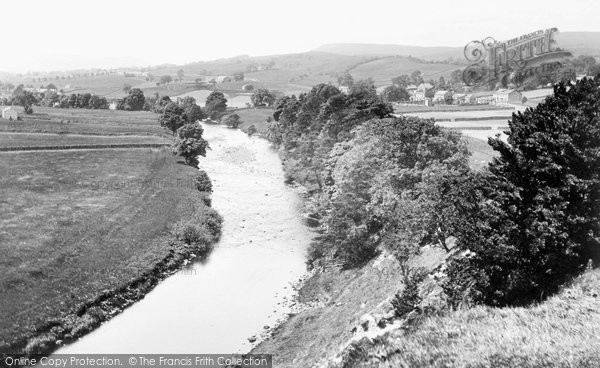 Photo of Askrigg, River Ure 1924