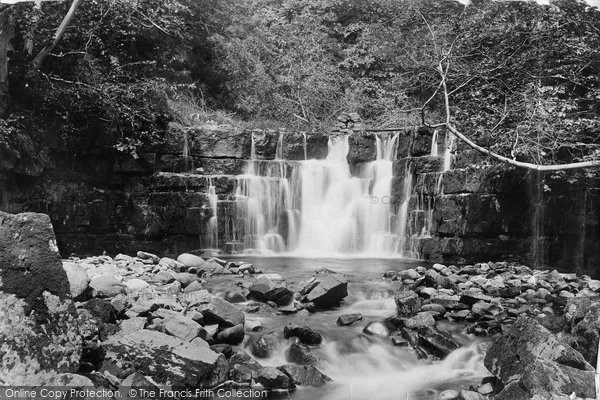 Askrigg, Whitfield Lower Fall 1896