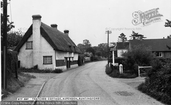 Photo of Aspenden, Thatched Cottage c.1965
