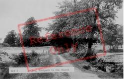 Footpath To Church c.1955, Astley