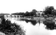 Atcham, Bridge and Church 1891