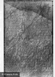 Inscription On King Alfred's Monument c.1960, Athelney