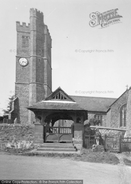 Photo of Atherington, Girl Beside Church Lychgate c.1955