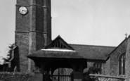Atherington, Girl Beside Church Lychgate c.1955
