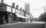 Atherton, Market Street And Parish Church c.1955