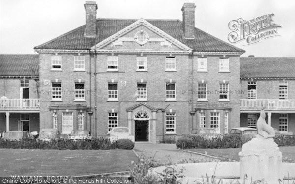 Photo of Attleborough, Wayland Hospital c.1955
