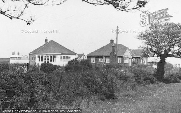 Photo of Atwick, Bungalows In Cliff Lane c.1960