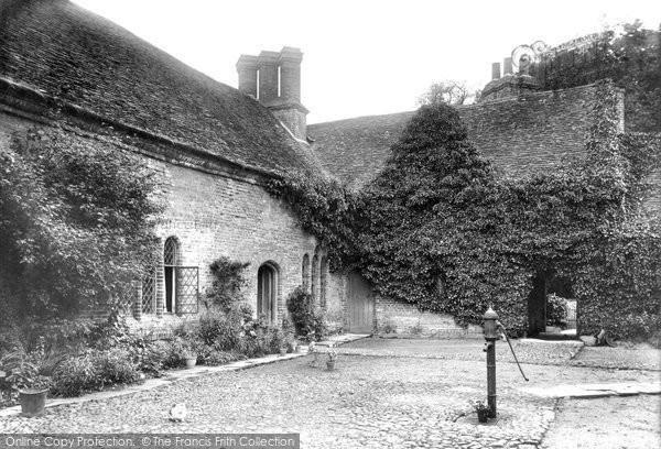 Audley End, The Abbey Court Yard 1907
