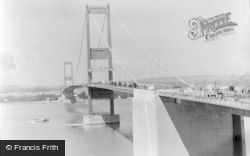 Aust, Severn Bridge Under Construction c.1966