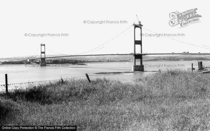 Aust, The Severn Bridge Under Construction c.1965