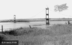 Aust, The Severn Bridge Under Construction c.1965