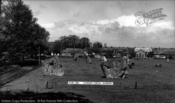 Photo of Avebury, Avebury Circle c.1955