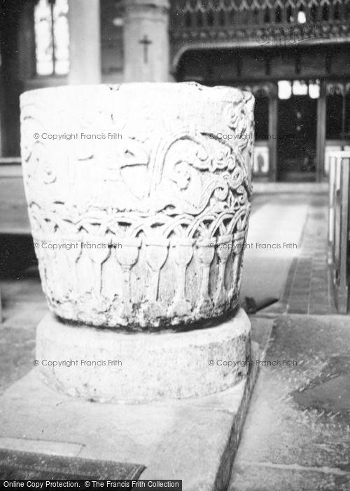 Photo of Avebury, Church Font c.1950