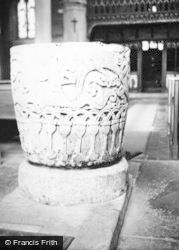 Avebury, Church Font c.1950