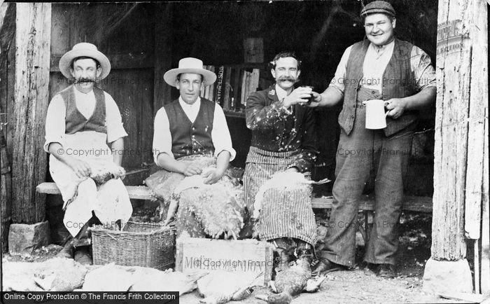 Photo of Avebury, Duck Pluckers c.1900