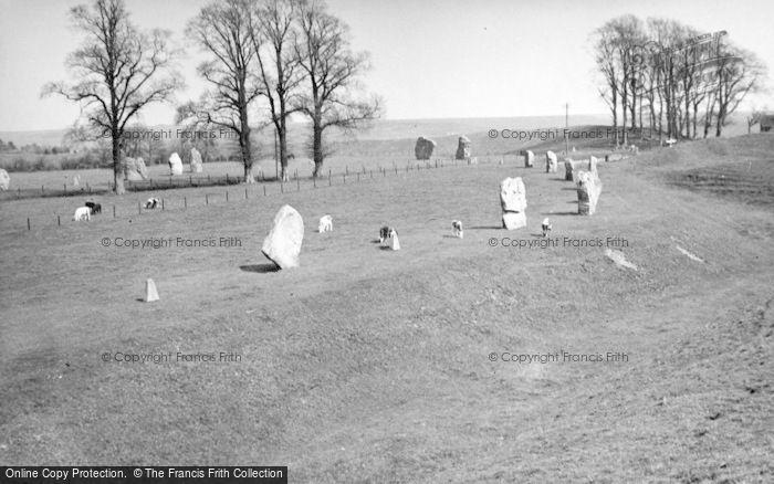 Photo of Avebury, Megalithic Circle c.1950