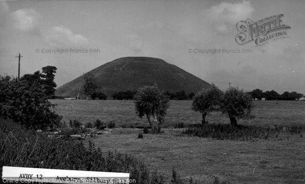 Photo of Avebury, Silbury Hill c.1955