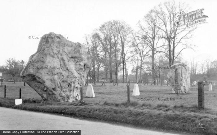 Photo of Avebury, The Bronze Age Stone c.1955
