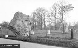 Avebury, The Bronze Age Stone c.1955