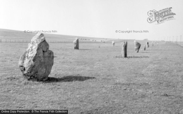 Photo of Avebury, The Causeway 1956