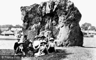 Avebury, the Devil's Chair c1908