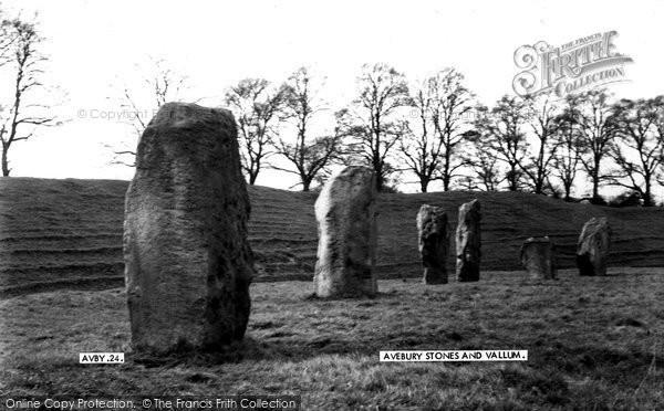 Photo of Avebury, The Stones And Vallum c.1955