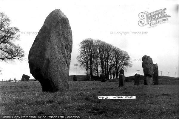Photo of Avebury, the Stones c1955