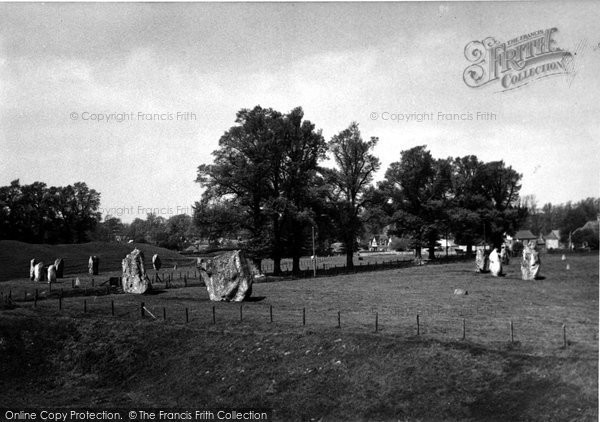 Photo of Avebury, The Stones From South West  c.1955