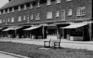 Aveley, Hall Road Estate, Shopping Parade c.1963