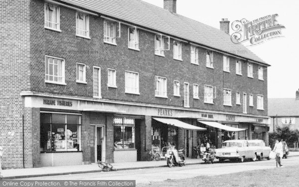 Photo of Aveley, Hall Road, Shopping Parade c.1960