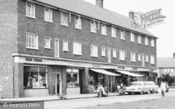 Aveley, Hall Road, Shopping Parade c.1960