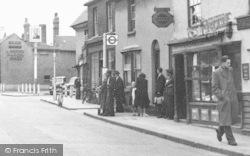 Aveley, High Street, Bus Stop c.1950