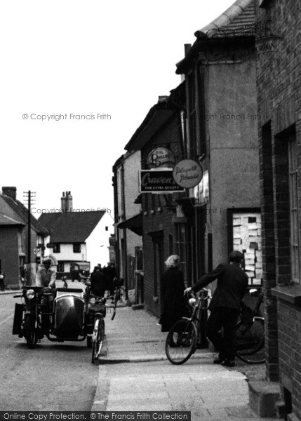 Photo of Aveley, High Street, Motorbike And Sidecar 1952