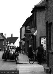 Aveley, High Street, Motorbike And Sidecar 1952