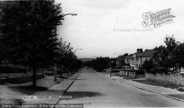 Photo of Aveley, Purfleet Road c.1960