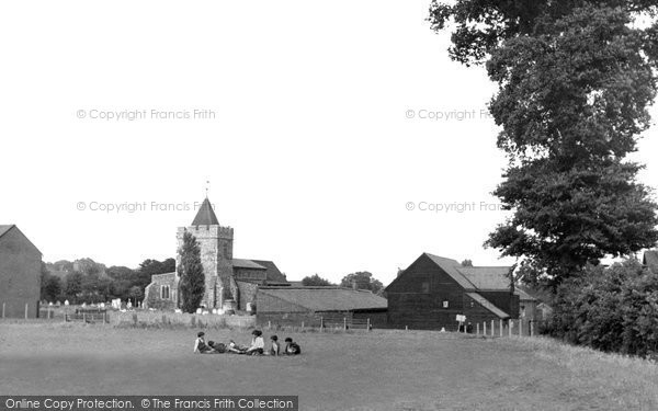 Photo of Aveley, St Michael's Church From The Recreation Ground c.1955