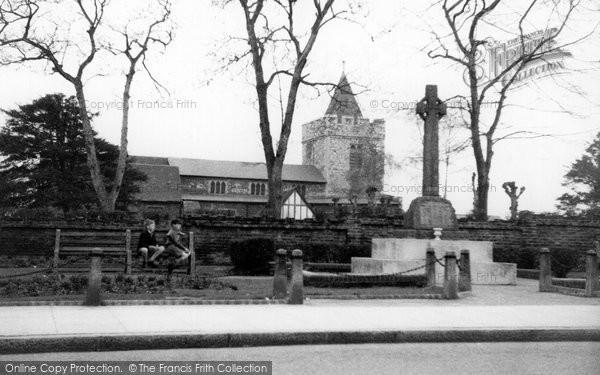 Photo of Aveley, The Memorial c.1955