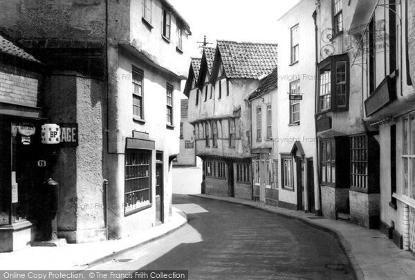 Photo of Axbridge, A Quaint Street c.1950