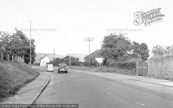 Photo of Axbridge, Cheddar Road c.1955