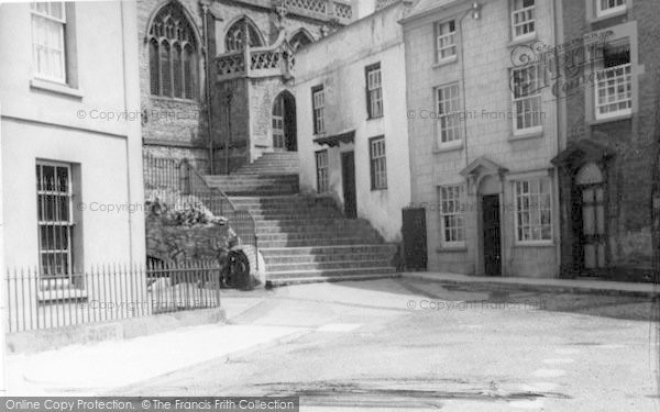 Photo of Axbridge, Church Steps c.1939