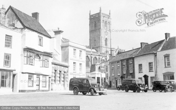 Photo of Axbridge, Market Place And Church c.1955