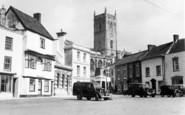 Axbridge, Market Place And Church c.1955
