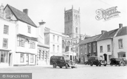 Axbridge, Market Place And Church c.1955