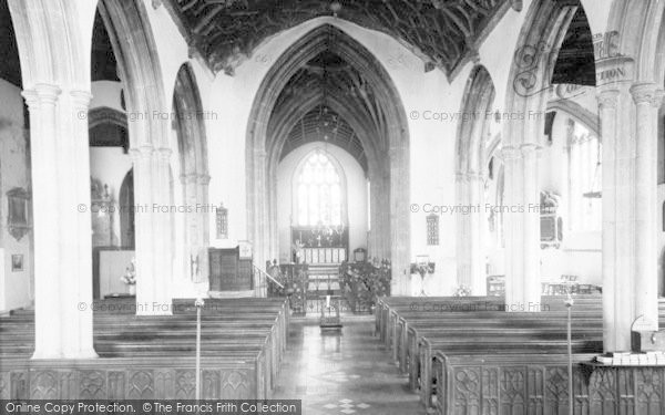 Photo of Axbridge, St John's Church Interior c.1955